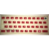ZX Spectrum 16k/48k keyboard mat replacement Glow-in-the-dark RED