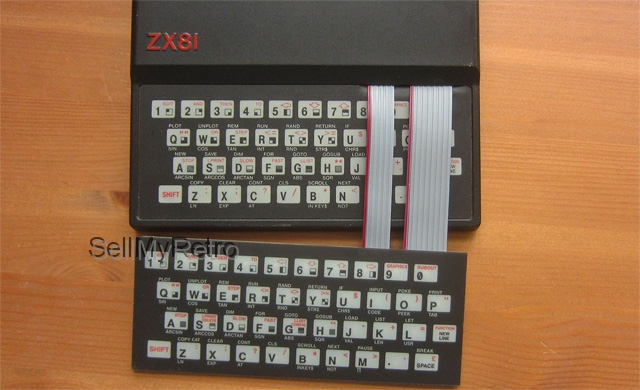 ZX81 keyboard complete mounted - ready to use