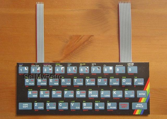 printed circuit board for 16k/48k ZX Spectrum keyboard