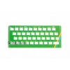 Zx Spectrum 16k/48k keyboard replica cover plate (faceplate) GREEN