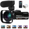 "Video Camera, ACTITOP Camcorder FHD 1080P 24MP IR Night Vision 3"" LCD Touch Screen YouTube Vlog"