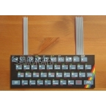 48K-KDLXS (soldered/mounted) - PCB replacement keyboard for ZX Spectrum 48k with printed cover panel
