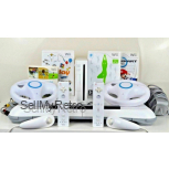Nintendo Wii Console & Wii Fit Board + 2 controllers + Mario Kart, Choose Colour
