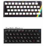 ZX Spectrum Keyboard Faceplate Black & Keyboard Mat Black