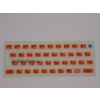 ZX Spectrum 16k/48k keyboard mat replacement Glow-in-the-dark ORANGE
