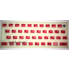 ZX SPECTRUM 16k/48k Fluorescent keyboard mat Red