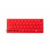 ZX Spectrum 16K/48K Keyboard Mat - Color Red