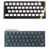 ZX Spectrum Keyboard Faceplate, Keyboard Mat & Keyboard Membrane
