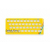 Zx Spectrum 16k/48k keyboard replica cover plate (faceplate) YELLOW