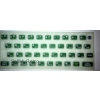 ZX Spectrum 16k/48k keyboard mat replacement Glow-in-the-dark GREEN