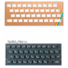Sinclair ZX Spectrum Keyboard Faceplate Color Gold & Keyboard Mat Color Grey