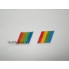 *NEW* Sinclair ZX Spectrum+48 / +128 Replacement Rainbow Badge - Colourway 2