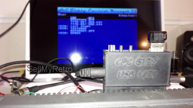 Amstrad CPC 6128 USB floppy emulator ver 2 0