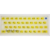 ZX Spectrum 16k/48k keyboard mat replacement Glow-in-the-dark YELLOW