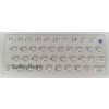 ZX Spectrum 16k/48k keyboard mat replacement Glow-in-the-dark WHITE
