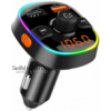 Vivefox Bluetooth Car Transmitter, Bluetooth 5.0 FM Transmitter Car Radio Transmitter with QC3.0 Cha