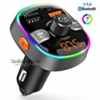 Bluetooth FM Transmitter 5.0 Wireless Car Radio Audio Adapter with Quick Charge QC3.0 &2.4A Dual