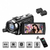 Video Camera Camcorder MELCAM 1080P 30FPS 24MP 3.0 Inch Screen Digital Camera with Remote Control an